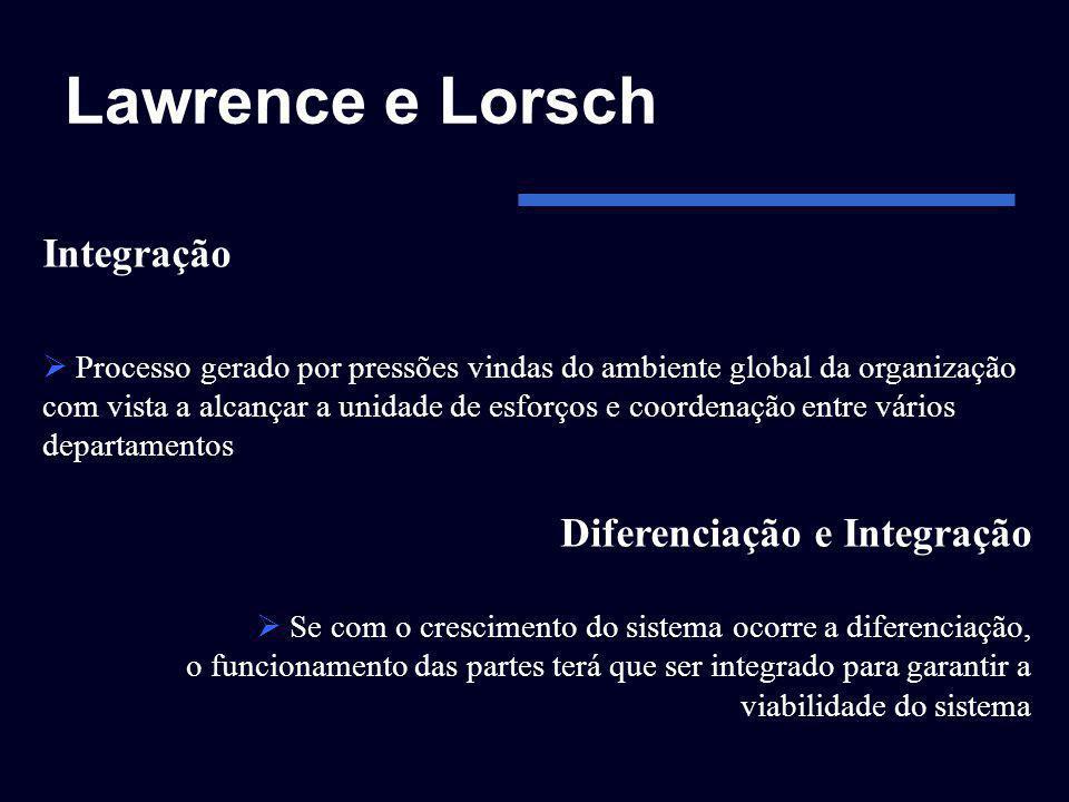 Lawrence e Lorsch Integração Diferenciação e Integração