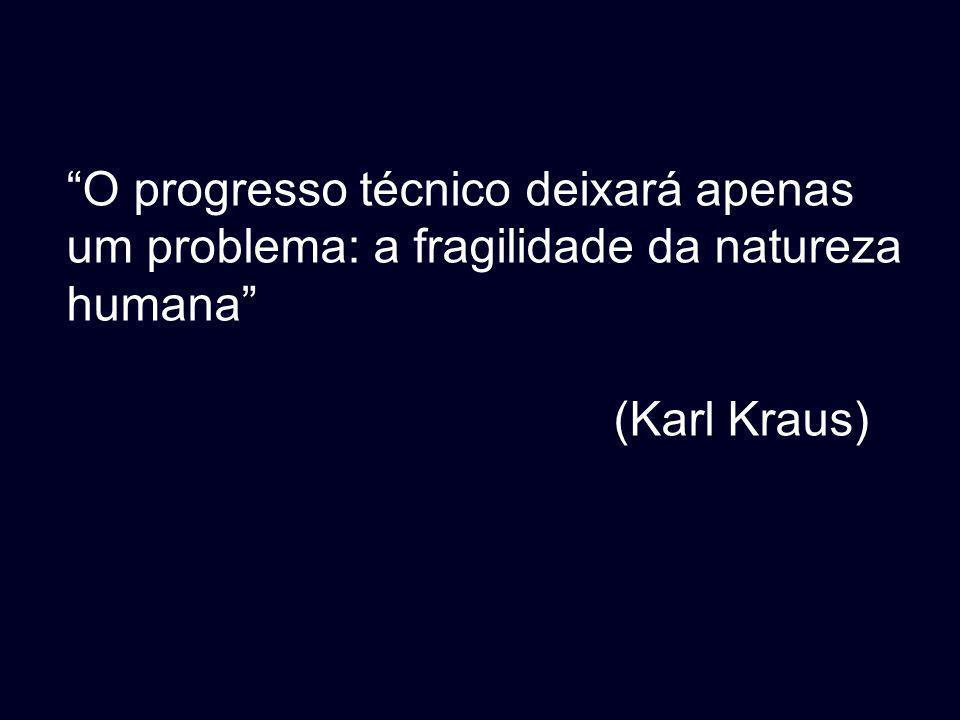 O progresso técnico deixará apenas um problema: a fragilidade da natureza humana (Karl Kraus)
