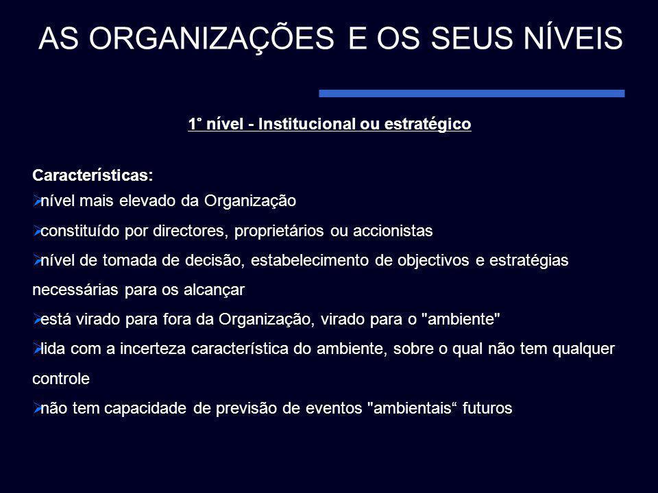 1° nível - Institucional ou estratégico