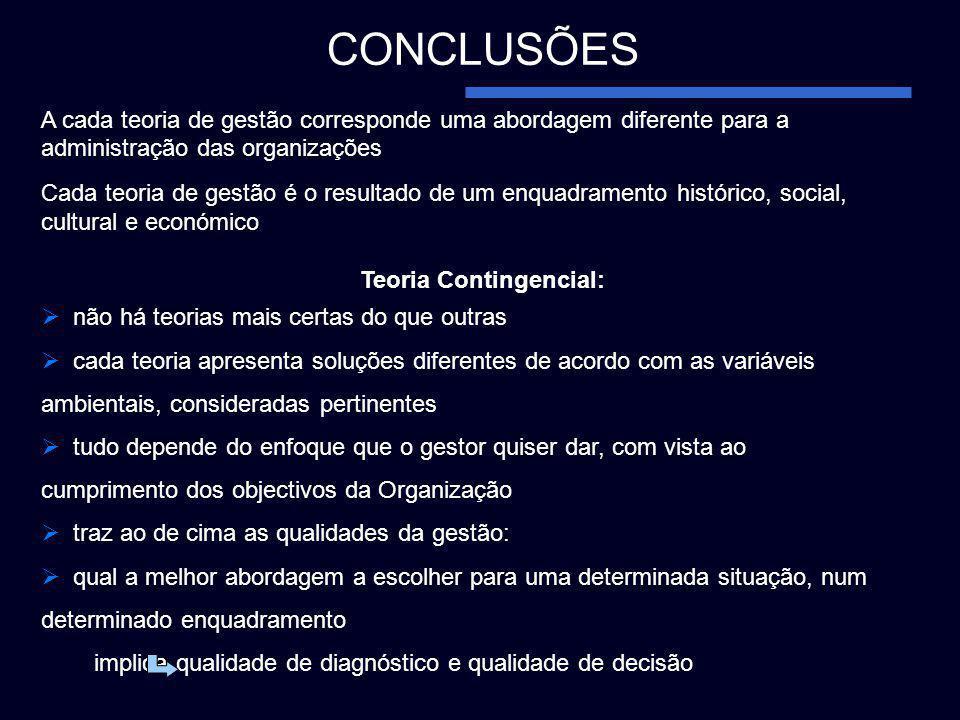 Teoria Contingencial: