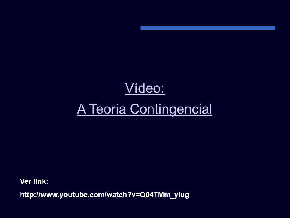 A Teoria Contingencial