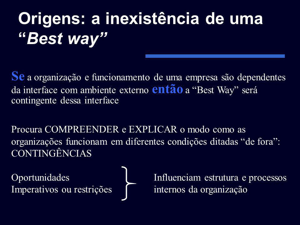 Origens: a inexistência de uma Best way