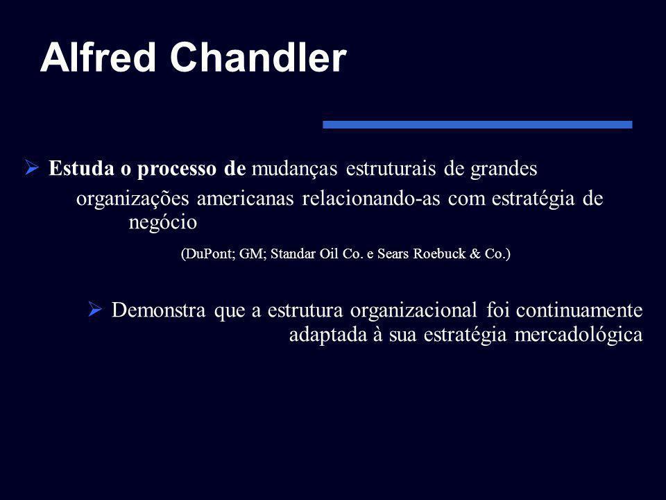 Alfred Chandler Estuda o processo de mudanças estruturais de grandes