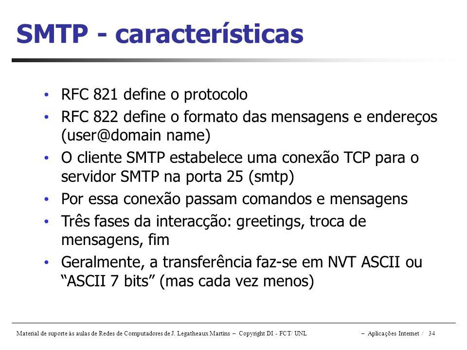 SMTP - características