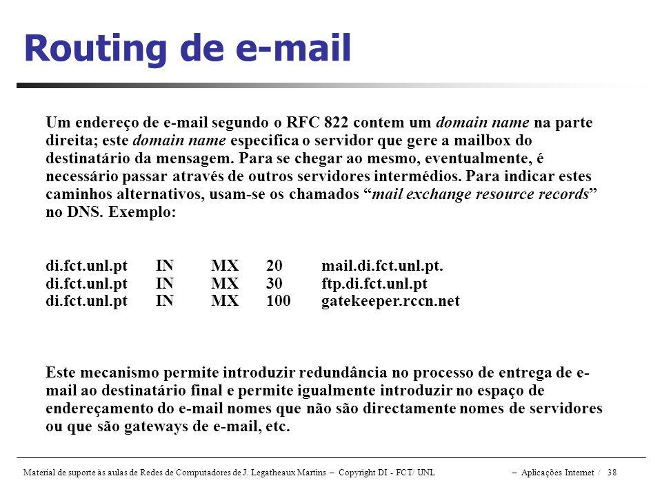 Routing de e-mail