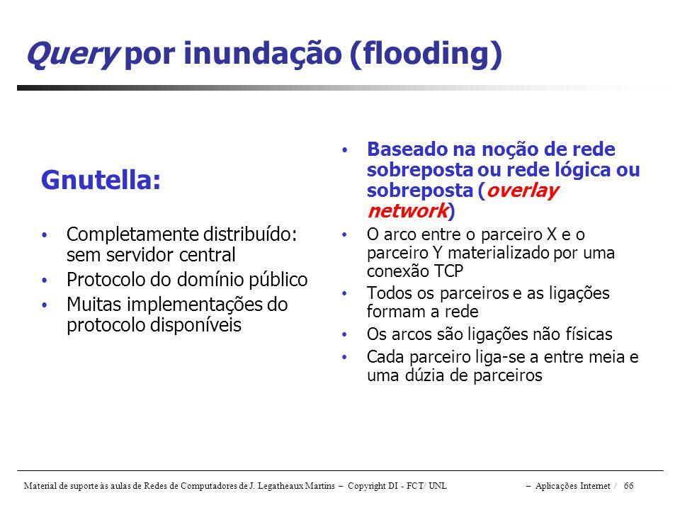 Query por inundação (flooding)