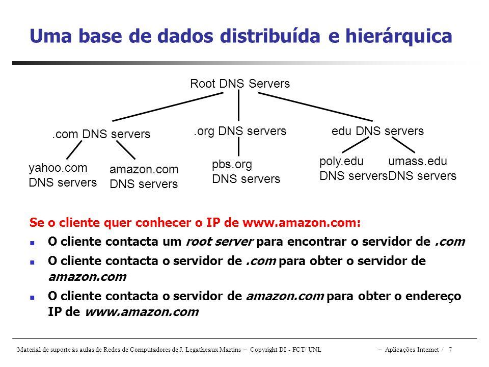 Uma base de dados distribuída e hierárquica