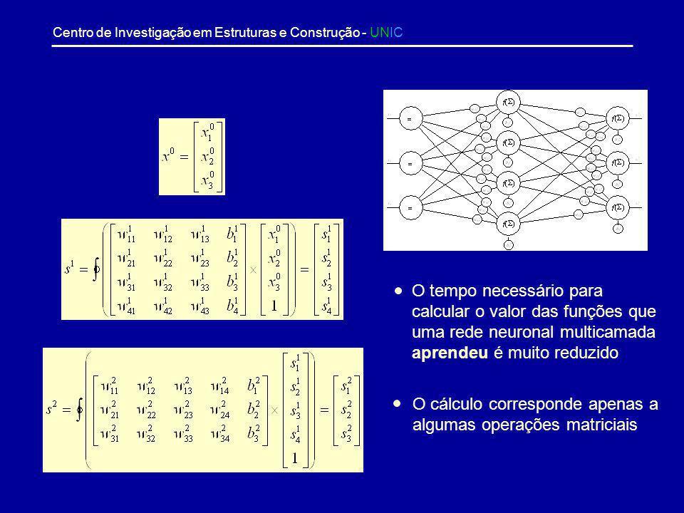 O tempo necessário para calcular o valor das funções que uma rede neuronal multicamada aprendeu é muito reduzido