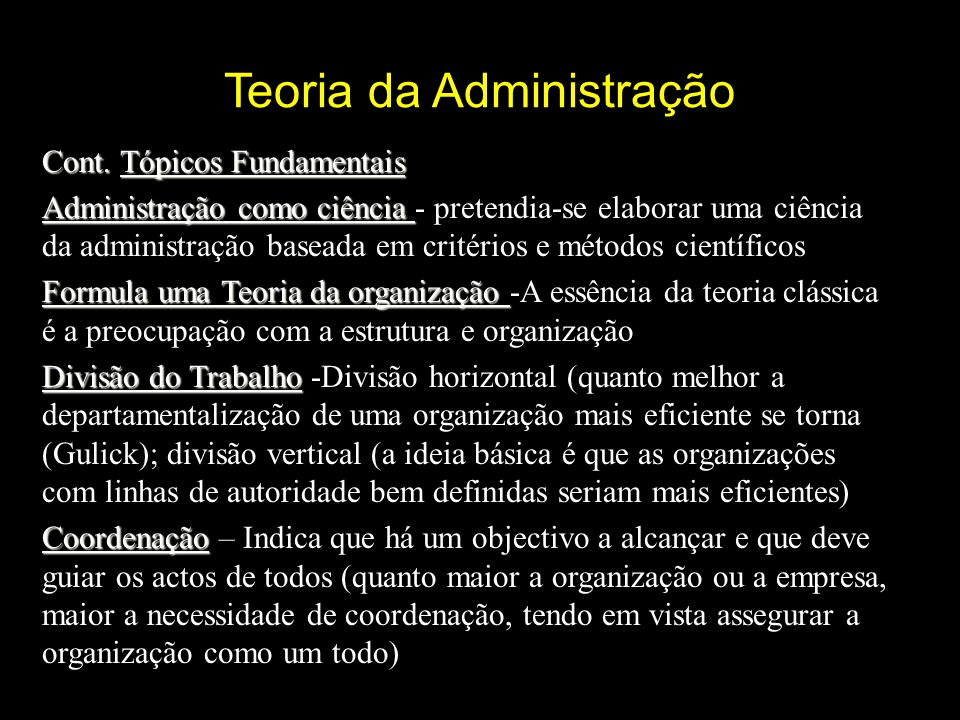 Teoria da Administração