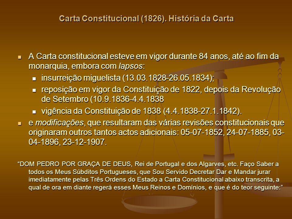 Carta Constitucional (1826). História da Carta