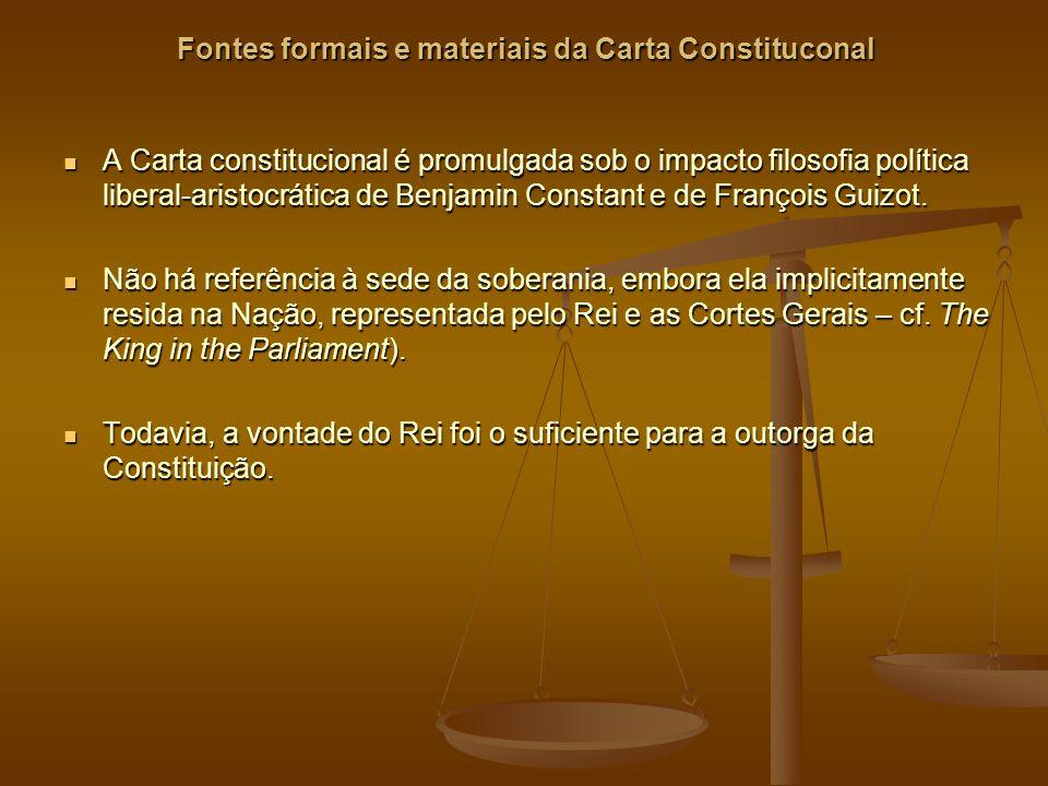 Fontes formais e materiais da Carta Constituconal