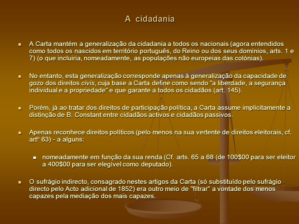 A cidadania