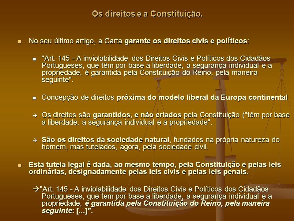 Os direitos e a Constituição.