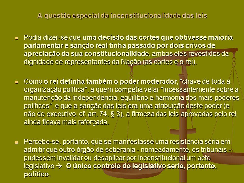 A questão especial da inconstitucionalidade das leis
