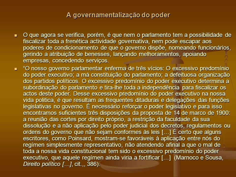 A governamentalização do poder