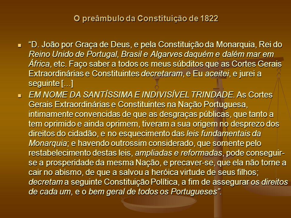 O preâmbulo da Constituição de 1822