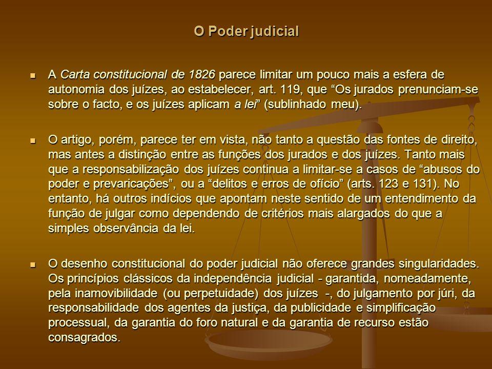 O Poder judicial