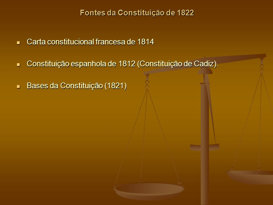 Fontes da Constituição de 1822