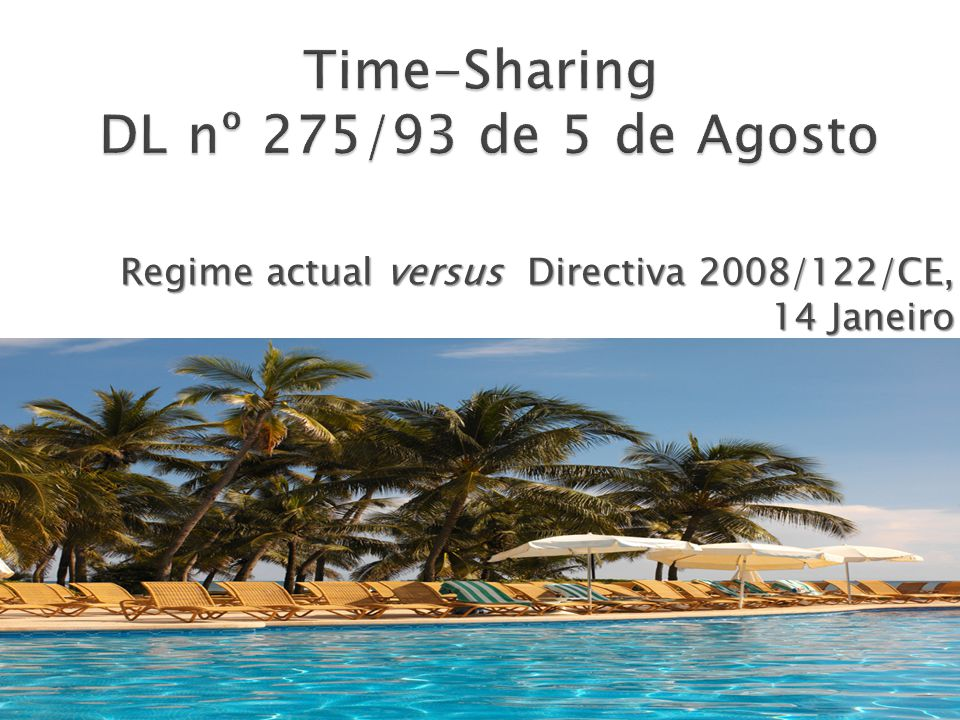 Time-Sharing DL nº 275/93 de 5 de Agosto