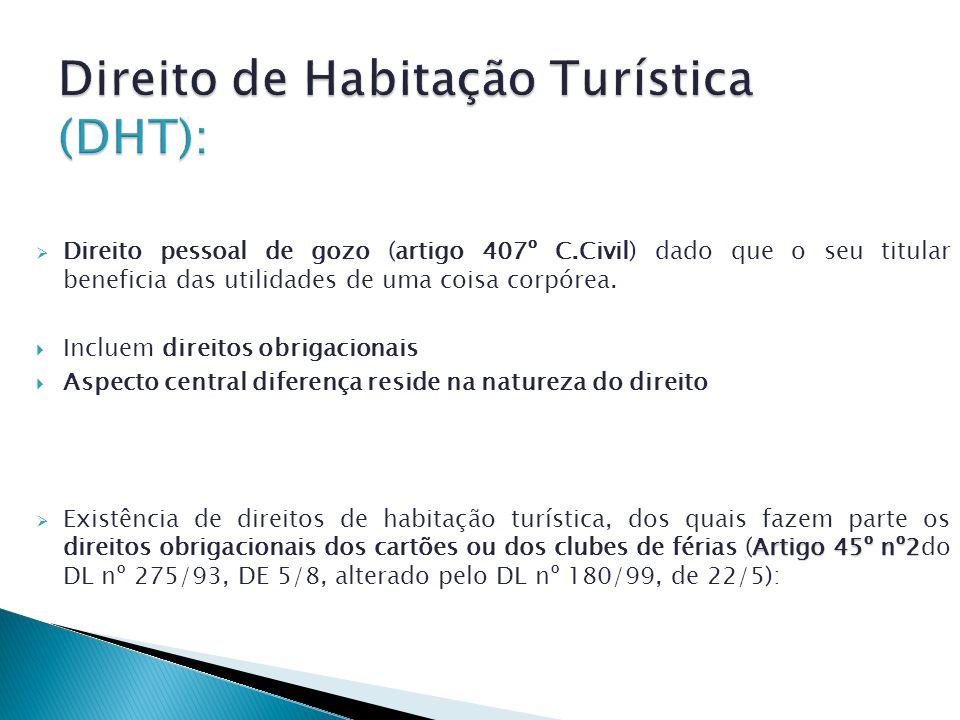 Direito de Habitação Turística (DHT):