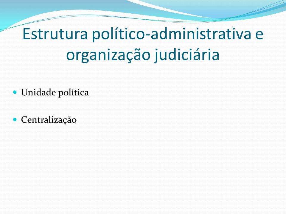 Estrutura político-administrativa e organização judiciária