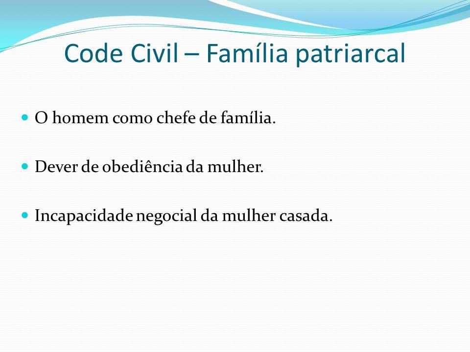 Code Civil – Família patriarcal