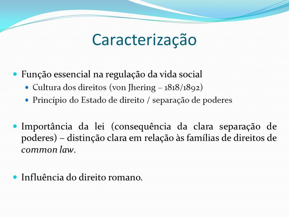 Caracterização Função essencial na regulação da vida social