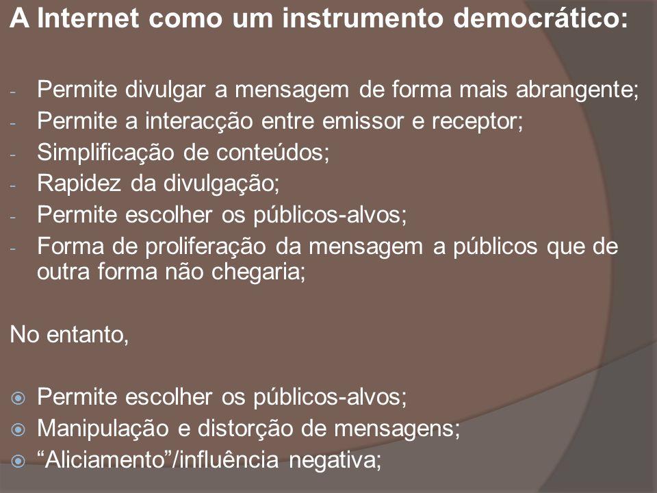 A Internet como um instrumento democrático: