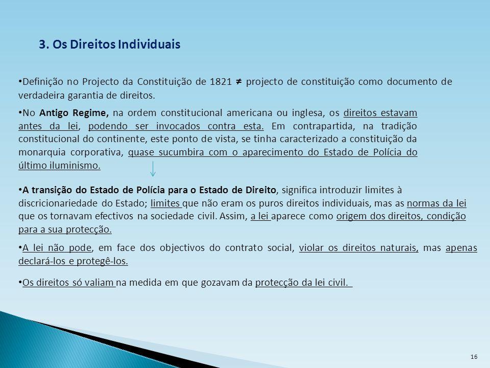3. Os Direitos Individuais