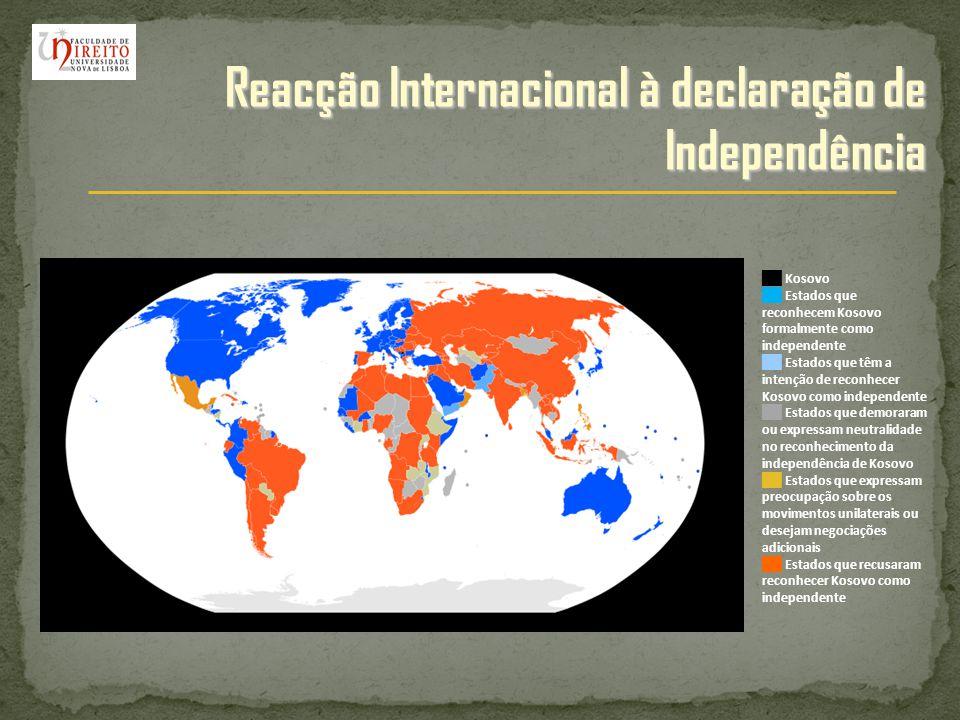 Reacção Internacional à declaração de Independência