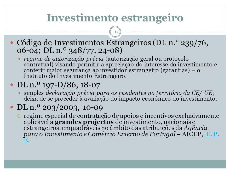 Investimento estrangeiro