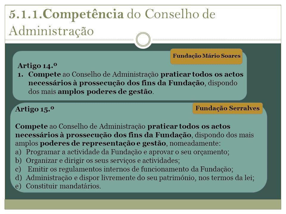 5.1.1.Competência do Conselho de Administração