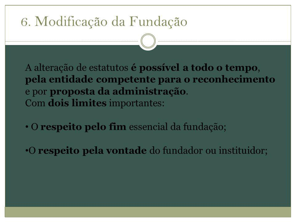 6. Modificação da Fundação