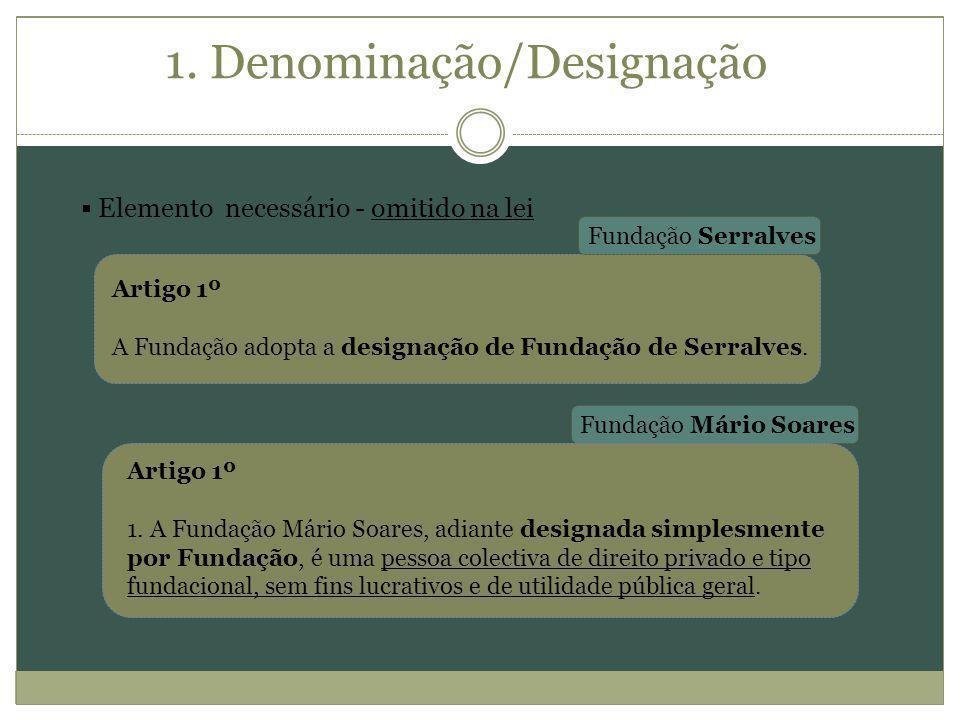 1. Denominação/Designação