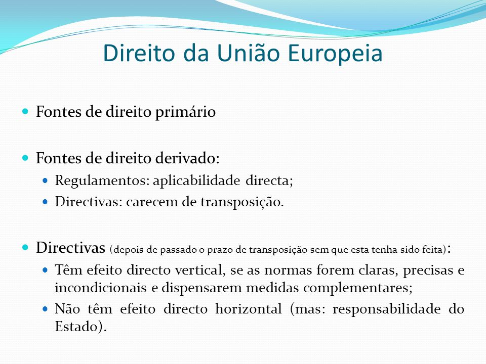 Direito da União Europeia