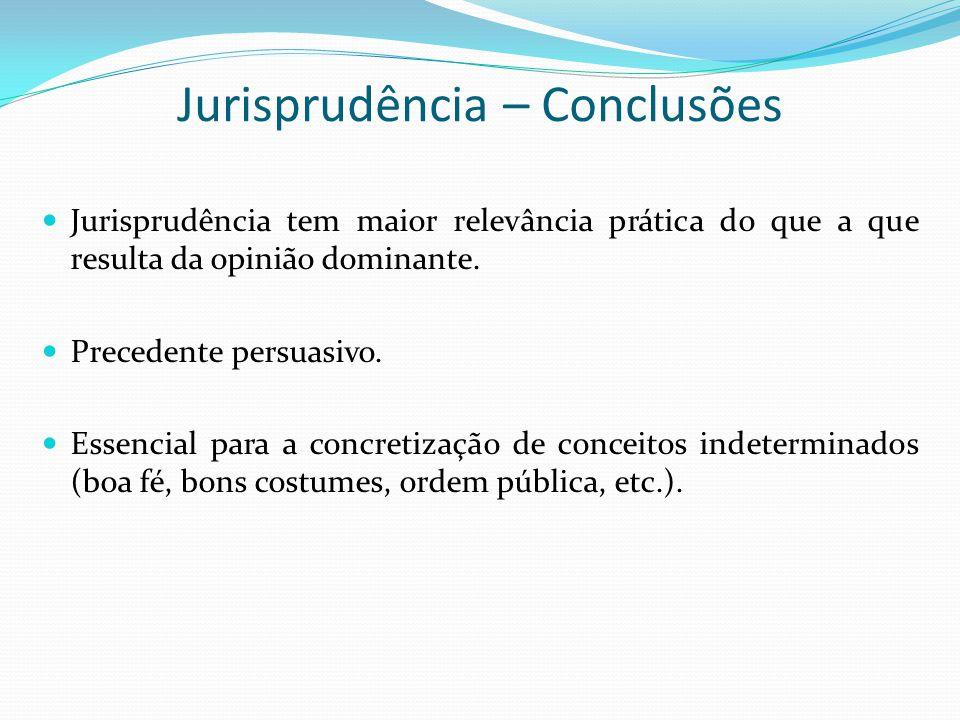 Jurisprudência – Conclusões