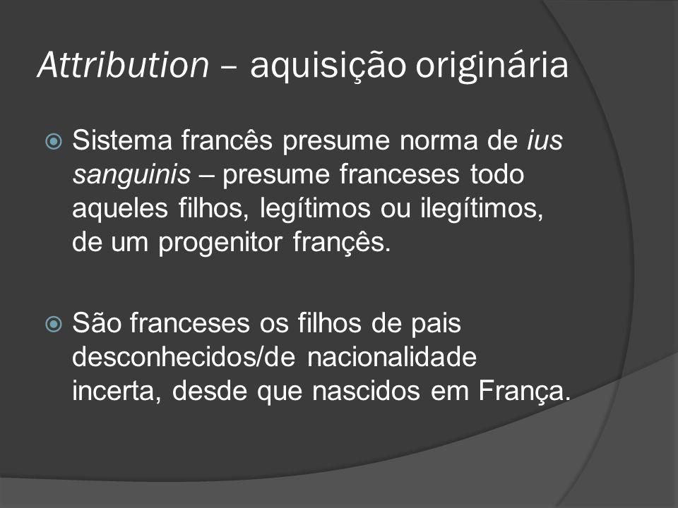 Attribution – aquisição originária