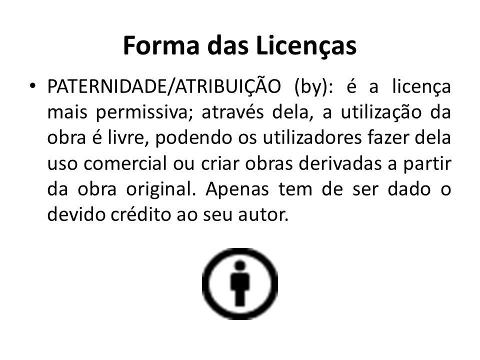 Forma das Licenças