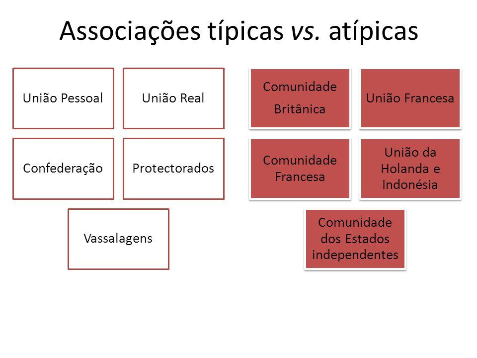 Associações típicas vs. atípicas