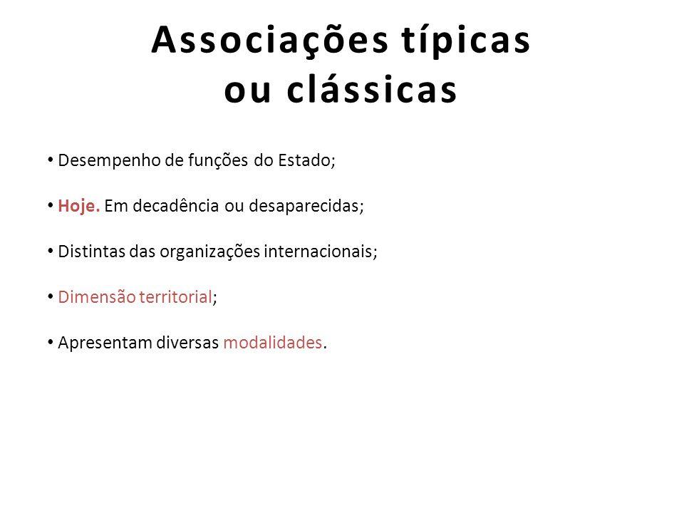 Associações típicas ou clássicas