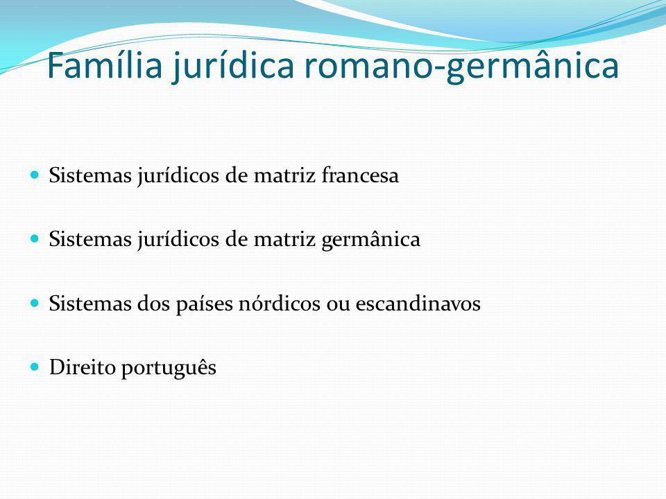 Família jurídica romano-germânica