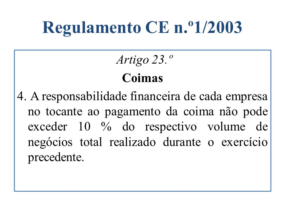 Regulamento CE n.º1/2003