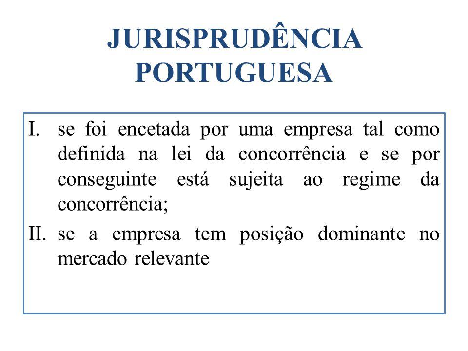 JURISPRUDÊNCIA PORTUGUESA