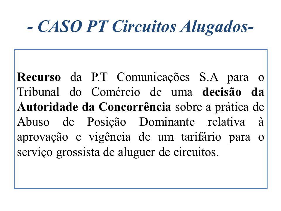 - CASO PT Circuitos Alugados-