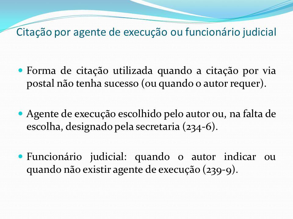 Citação por agente de execução ou funcionário judicial