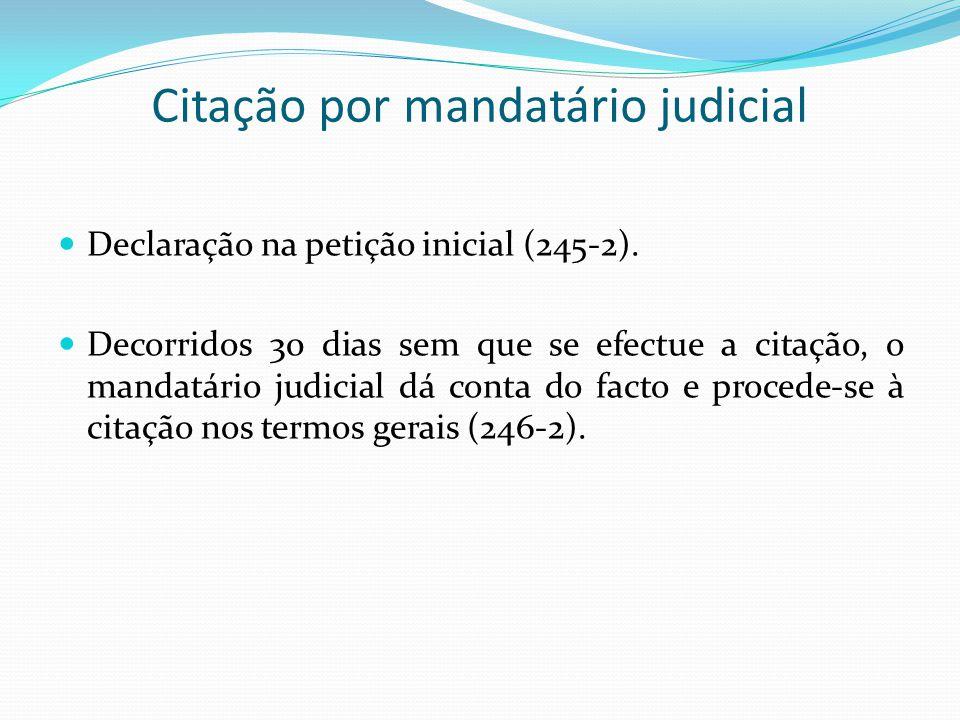 Citação por mandatário judicial