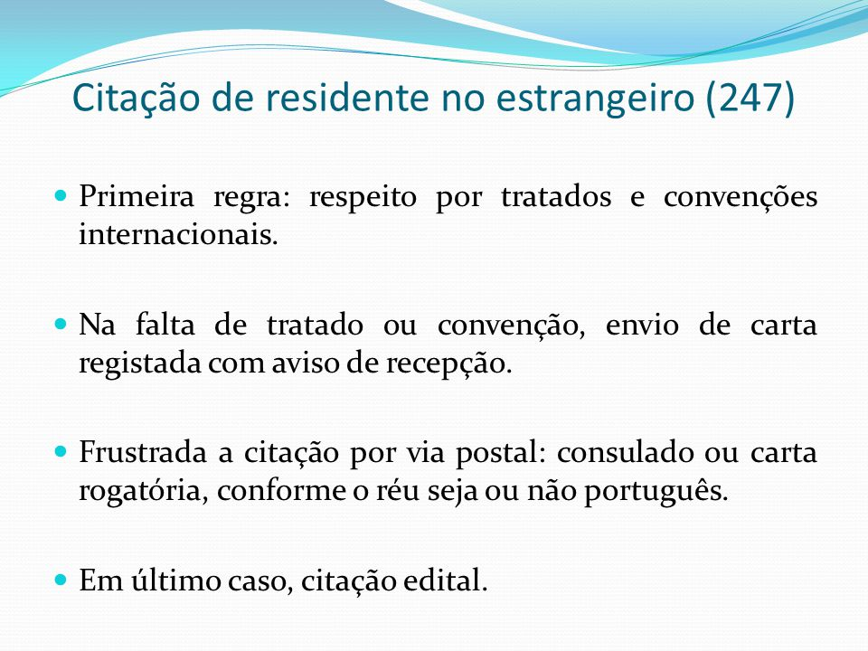 Citação de residente no estrangeiro (247)