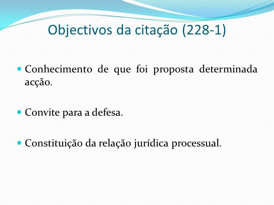 Objectivos da citação (228-1)