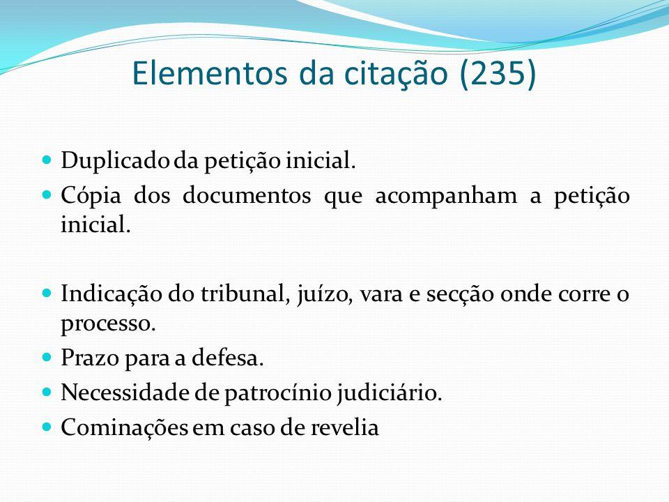Elementos da citação (235)