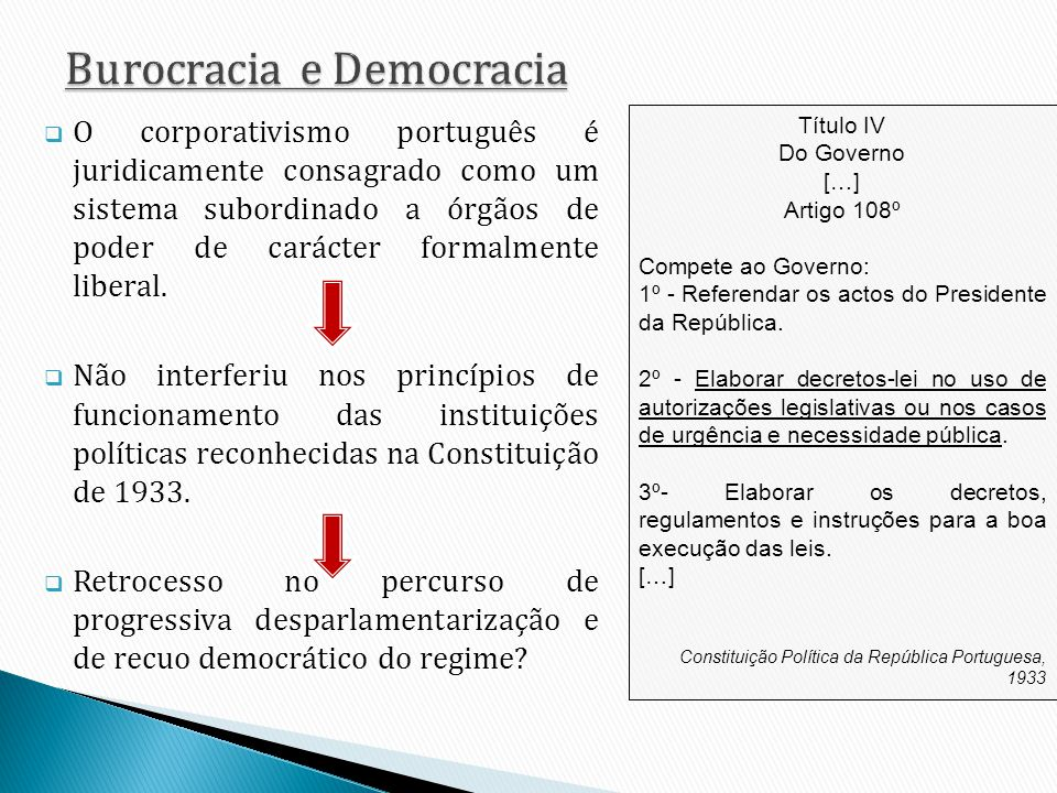 Burocracia e Democracia